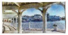 The View From The Boardwalk Gazebo Wdw 02 Photo Art Mp Hand Towel