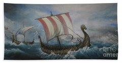 The Vikings Bath Towel by Sorin Apostolescu