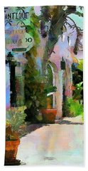 Bath Towel featuring the painting The Villa by Wayne Pascall