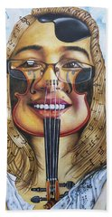 The Violinist Bath Towel