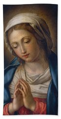 The Virgin At Prayer Bath Towel
