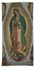 The Virgin Of Guadalupe With The Four Apparitions, 1772 Hand Towel