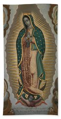 The Virgin Of Guadalupe With The Four Apparitions Hand Towel