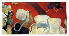 The Vision After The Sermon Jacob Wrestling With The Angel 1888 Hand Towel