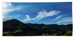 Hand Towel featuring the photograph The Volcanic Hills by Steve Taylor