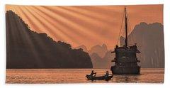 The Voyage Ha Long Bay Vietnam  Bath Towel