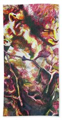 Bath Towel featuring the painting The Warm Breeze Behind The Sun by Rene Capone