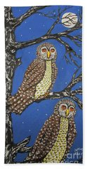 The Watchers Of The Night Hand Towel
