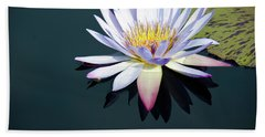 Hand Towel featuring the photograph The Water Lily by David Sutton