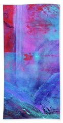 Hand Towel featuring the painting The Wave by Carolyn Repka