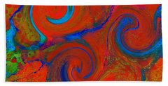 The Wave Of Truth 2 Red Bath Towel