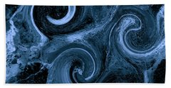 The Wave Of Truth Navy Bath Towel