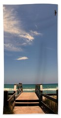 The Way Out To The Beach Bath Towel by Susanne Van Hulst