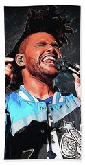 The Weeknd Hand Towel by Semih Yurdabak
