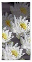 The White Garden Bath Towel by Rosalie Scanlon