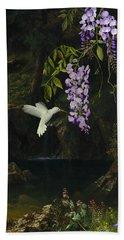 The White Hummingbird Bath Towel