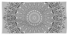 Bath Towel featuring the digital art The White Mandala No. 4 by Joy McKenzie