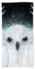 The White Owl Bath Towel