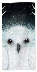 The White Owl Hand Towel
