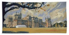 The White Party Tent Along Blenheim Palace Hand Towel
