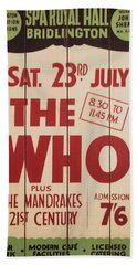 The Who 1966 Tour Poster Bath Towel
