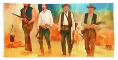 The Wild Bunch Hand Towel by Michael Cleere