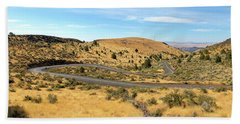 The Winding Road In Central Oregon Hand Towel