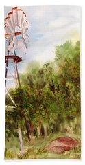 The Windmill  Hand Towel by Vicki  Housel