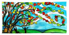 The Windy Tree Hand Towel by Genevieve Esson