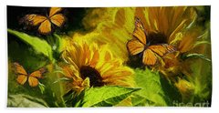 The Wings Of Transformation Bath Towel by Tina  LeCour