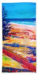 Bath Towel featuring the painting The Winter Dunes by Winsome Gunning