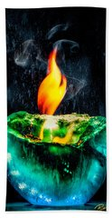 The Winter Of Fire And Ice Bath Towel