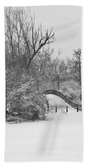 The Winter White Wedding Bridge Hand Towel