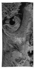 The Old Owl That Watches Blk Hand Towel by ISAW Gallery
