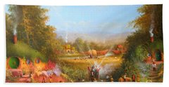 Fireworks In The Shire. Bath Towel