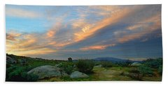The Wonders Of Sunset Bath Towel by Glenn McCarthy Art and Photography