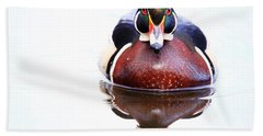 Bath Towel featuring the photograph The Wood Duck Look by Lynn Hopwood