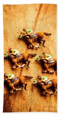 The Wooden Horse Race Bath Towel