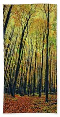 The Woods In The North Bath Towel by Michelle Calkins