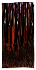 Bath Towel featuring the digital art The Woods by Matt Lindley
