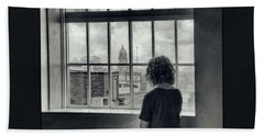 The World Outside My Window Number II  Hand Towel by Laurinda Bowling
