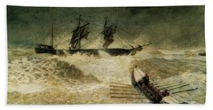 The Wreck Of The Iron Cloud, 1881 Bath Towel