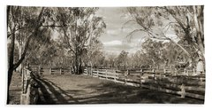 Hand Towel featuring the photograph The Yards by Linda Lees