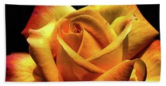 The Yellow Rose Hand Towel by Odon Czintos