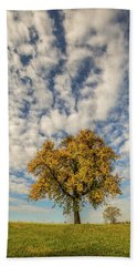 Bath Towel featuring the photograph The Yellow Tree by Davorin Mance