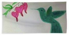 The Joy Of Hummingbird Hand Towel