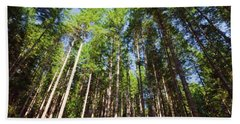Theme Green Trees Reaching For The Sky  Save The Environment Bath Towel