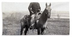 Theodore Roosevelt Horseback - C 1903 Bath Towel