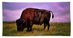 Hand Towel featuring the photograph Theodore Roosevelt National Park 008 - Buffalo by George Bostian