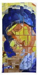Hand Towel featuring the painting Theotokos by Sandy McIntire